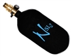 77/4500 with All Brass Pro V2 Ninja Lite Carbon Fiber Air Tank - Black/Blue
