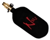 77/4500 with All Brass Pro V2 Ninja Lite Carbon Fiber Air Tank - Black/Red