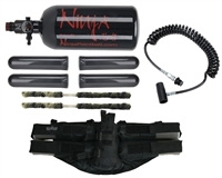 Paintball Harness, Remote & Tank Kit - 4+1 w/ On/Off Remote & 47/3000 Tank