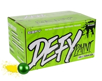 D3FY Sports .68 Caliber Paintballs - Level 2 Premium - Green Shell Yellow Fill - 100 Rounds