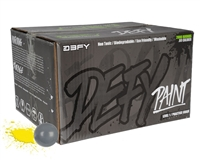 D3FY Sports .68 Caliber Paintballs - Level 1 Practice - Battleship Grey Shell w/ Yellow Fill - 2,000 Rounds
