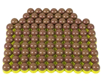 First Strike/Tiberius Arms FSR Paintballs - 100 Count - Brass/Copper Shell w/ Blue Fill