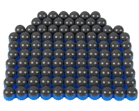 First Strike/Tiberius Arms FSR Paintballs - 100 Count - Smoke/Blue Shell w/ Blue Fill