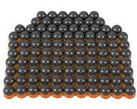 First Strike/Tiberius Arms FSR Paintballs - 100 Count - Smoke/Orange Shell w/ Orange Fill