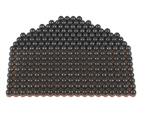 First Strike/Tiberius Arms FSR Paintballs - 250 Count - Smoke/Copper Shell w/ Blue Fill