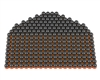 First Strike/Tiberius Arms FSR Paintballs - 250 Count - Smoke/Orange Shell w/ Orange Fill