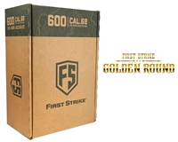 First Strike/Tiberius Arms FSR Paintballs - 600 Count - Smoke/Yellow Shell w/ Yellow Fill