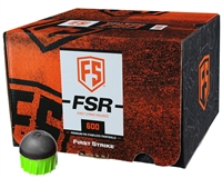 First Strike/Tiberius Arms FSR Paintballs - 600 Count - Smoke/Green Shell - Green Fill