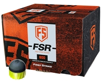First Strike/Tiberius Arms FSR Paintballs - 600 Count - Smoke/Yellow Shell - Yellow Fill