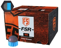 First Strike/Tiberius Arms FSR Paintballs - 600 Count w/ Free Velcro Patch - Smoke/Blue Shell - Pink Fill