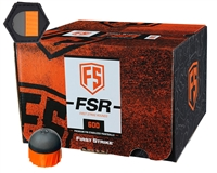 First Strike/Tiberius Arms FSR Paintballs - 600 Count w/ Free Velcro Patch - Smoke/Orange Shell - Orange Fill