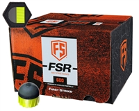 First Strike/Tiberius Arms FSR Paintballs - 600 Count w/ Free Velcro Patch - Smoke/Yellow Shell - Yellow Fill