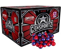 GI Sportz .68 Caliber Paintballs - 3 Star - Ruby/Imperial Shell - Yellow Fill - 100 Rounds