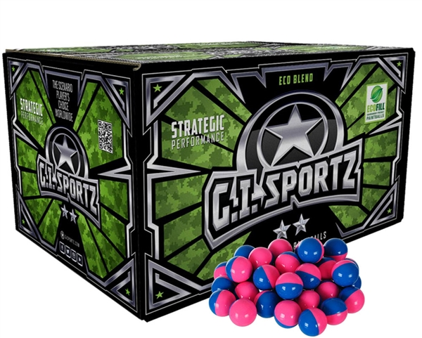 GI Sportz .68 Caliber Paintballs - 2 Star - Pink Fill - 1,000 Rounds