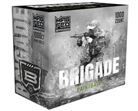 GI Sportz .68 Caliber Paintballs - Brigade (Mag Fed) - Silver Shell/Neon Green Fill - 1,000 Rounds