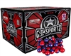 GI Sportz .68 Caliber Paintballs - 3 Star - Ruby/Imperial Shell - Yellow Fill - 2,000 Rounds
