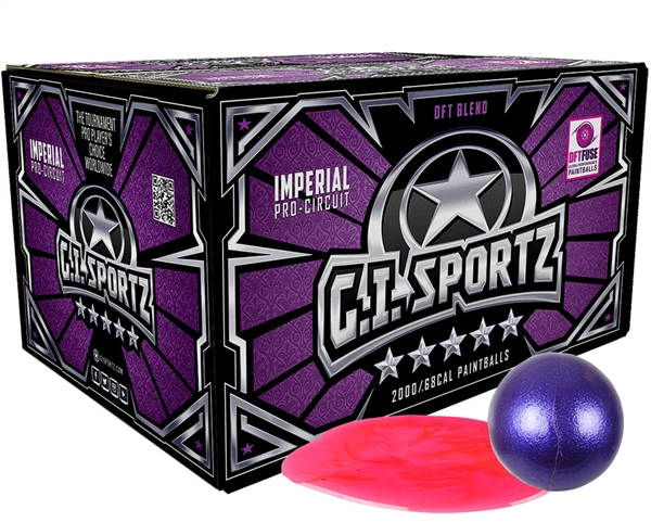 GI Sportz .68 Caliber Paintballs - 5 Star - Pink Fill - 1,000 Rounds