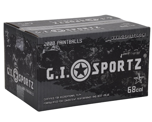 GI Sportz 1 Star Paintball Case 500 Rounds - Orange Fill