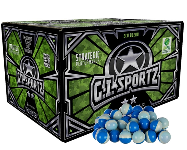 GI Sportz 2 Star Paintball Case 1,000 Rounds - Light Blue Fill