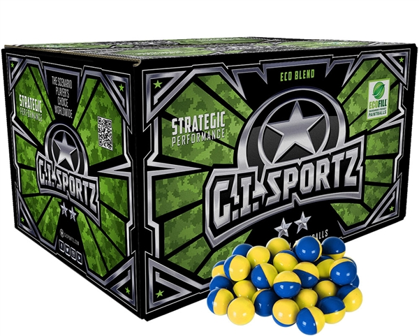 GI Sportz 2 Star Paintball Case 1000 Rounds - Yellow Fill