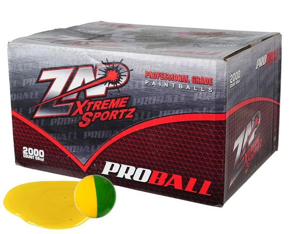 ZAP Xtreme .68 Caliber Paintballs - Proball - Yellow Fill - 100 Rounds