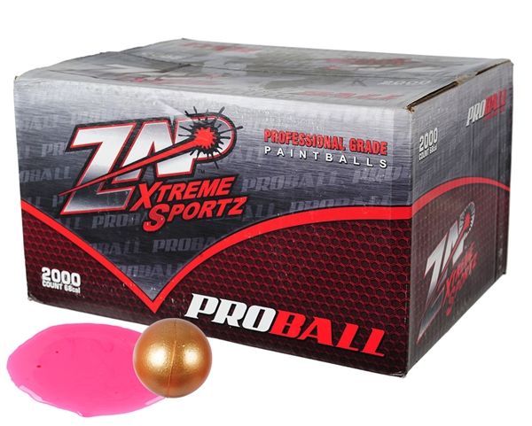 ZAP Xtreme .68 Caliber Paintballs - Proball - Pink Fill - 2,000 Rounds