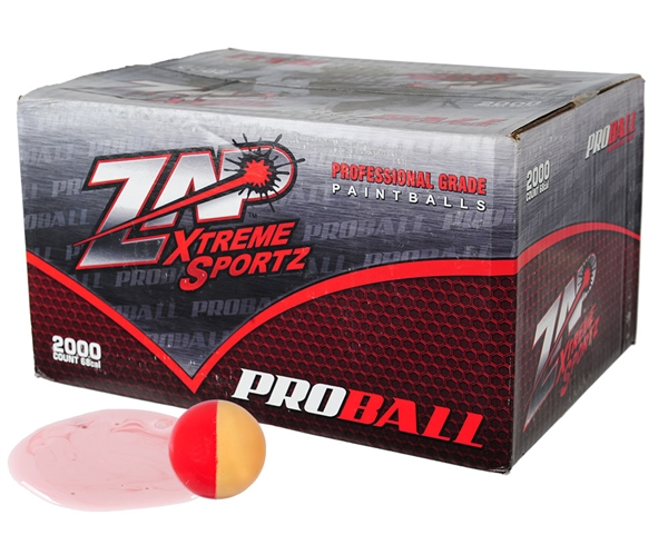 ZAP Xtreme .68 Caliber Paintballs - Proball - White Fill - 500 Rounds
