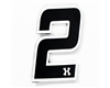 HK Army Rubber/Velcro Patch - Number 2 - Black