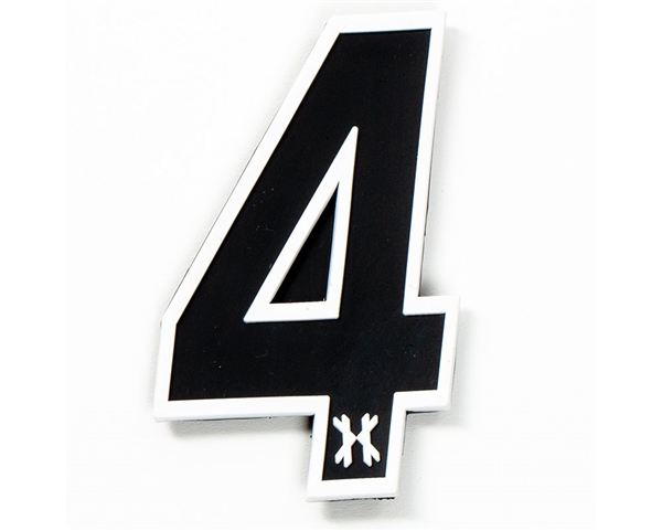 HK Army Rubber/Velcro Patch - Number 4 - Black
