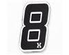HK Army Rubber/Velcro Patch - Number 8 - Black