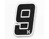 HK Army Rubber/Velcro Patch - Number 9 - Black