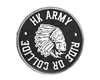 HK Army Ride or Collide Patch w/ Velcro Backing