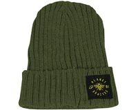 Planet Eclipse Beanie - Worker - Moss Green