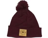 Planet Eclipse Beanie - Worker Pom - Burgundy