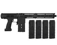 Planet Eclipse EMEK MG100 (PAL ENABLED) Mag Fed Paintball Marker w/ 4 Additional (20 Round) Magazines - Black