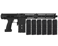Planet Eclipse EMEK MG100 (PAL ENABLED) Mag Fed Paintball Marker w/ 6 Additional (20 Round) Magazines - Black