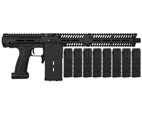 Planet Eclipse EMEK MG100 (PAL ENABLED) Mag Fed Paintball Marker w/ 8 Additional (20 Round) Magazines - Black
