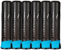 (6-Pack) HK Army Push Button 165 Round Pods - Ninja/Turquoise/Black