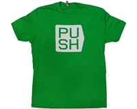 Push Paintball T-Shirt - Cubed - Green w/ White