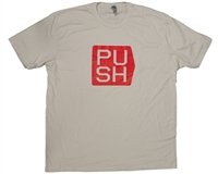 Push Paintball T-Shirt - Cubed - Tan w/ Red