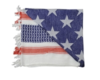 Rothco Tactical Shemagh - US Flag White/Red/Blue