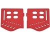 Trinity Soft Ear Pieces For JT Masks - Red