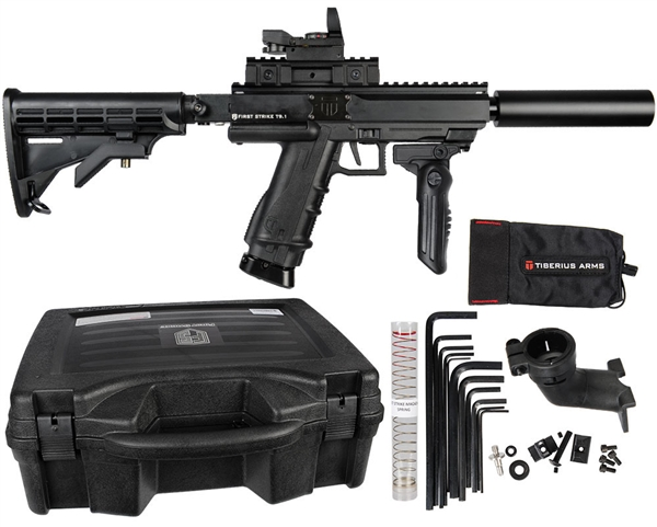 Tiberius Arms FS T9.1 CQB Rifle Paintball Marker - Black