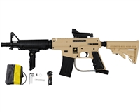 Tippmann US Army Alpha Black Elite Tactical Sniper Paintball Marker Kit - Tan