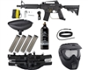 Tippmann US Army Alpha Black Elite Tactical Epic Paintball Gun Kit - Black