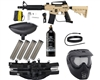 Tippmann US Army Alpha Black Elite Tactical Epic Paintball Gun Package Kit - Tan
