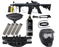 Tippmann US Army Alpha Black Elite Tactical Foxtrot Paintball Gun Kit - Black