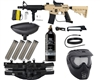 Tippmann US Army Alpha Black Elite Tactical Foxtrot Paintball Gun Kit - Tan