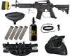 Tippmann US Army Alpha Black Elite Tactical Legendary Paintball Gun Package Kit - Black