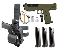 Tippmann TiPX Trufeed Deluxe Pistol Package - Olive/Black